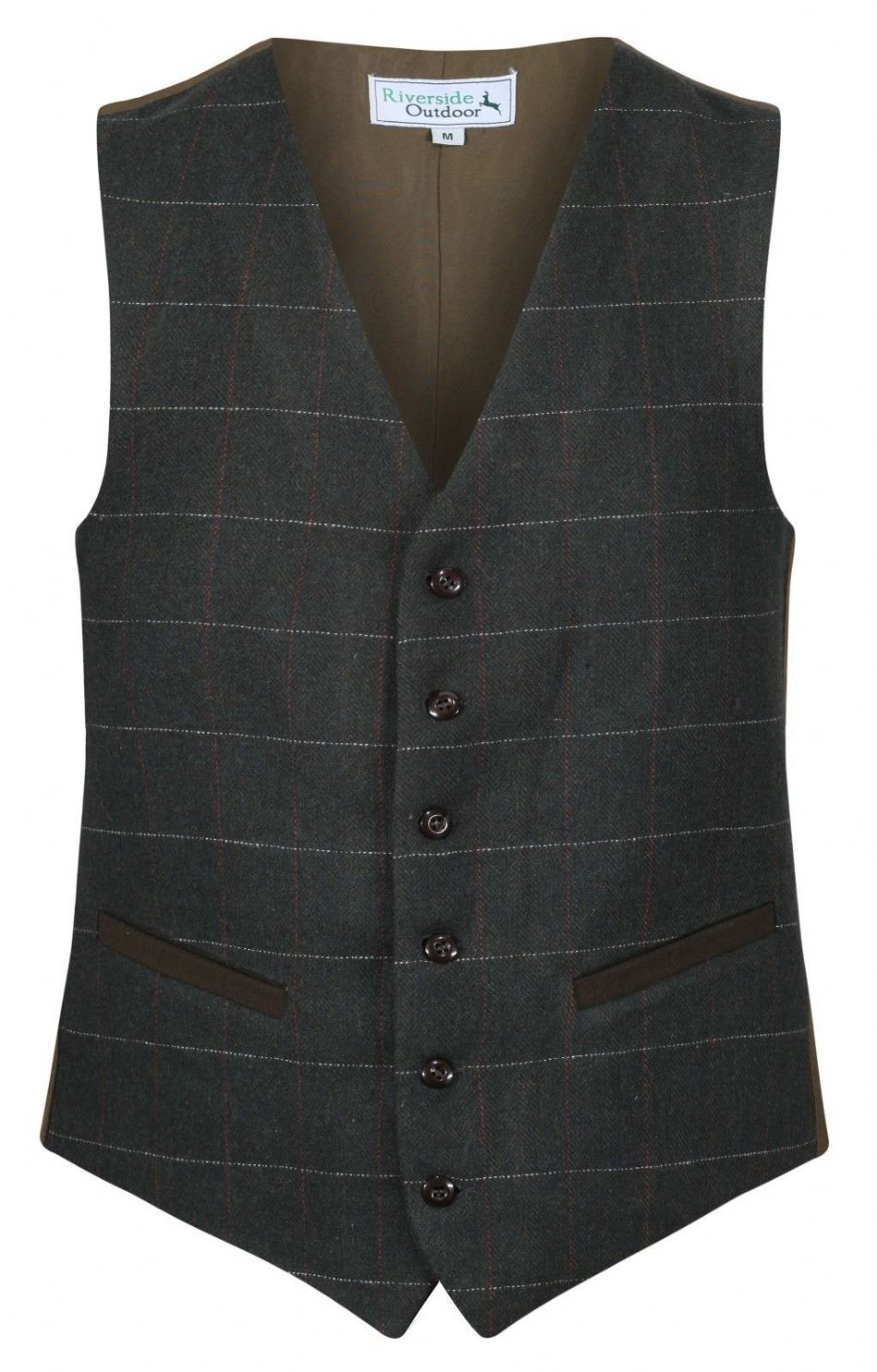 MENS WOOL Blend Dartmouth Olive Moss TWEED Check Waistcoat Quality Vest New